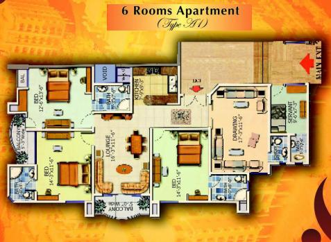 Type A1 Apartment - Layout Plan