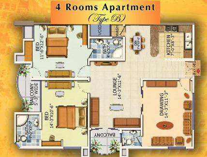 Type B Apartment - Layout Plan