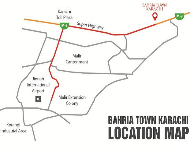 Bahia Town Karachi Location Plan