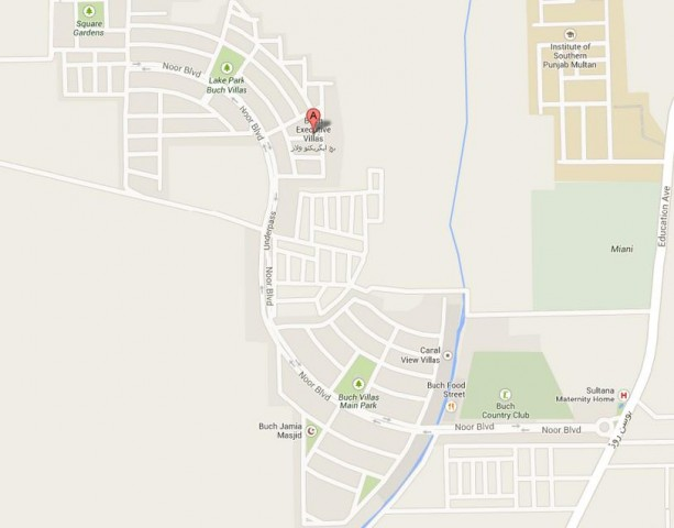 Buch Villas Multan Map