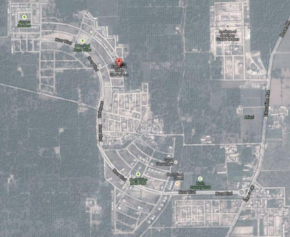 Buch Villas Multan Satellite Map as on 18-1-2014