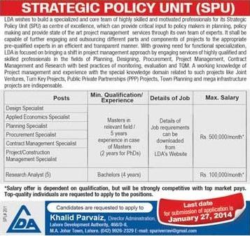 Jobs in LDA SPU