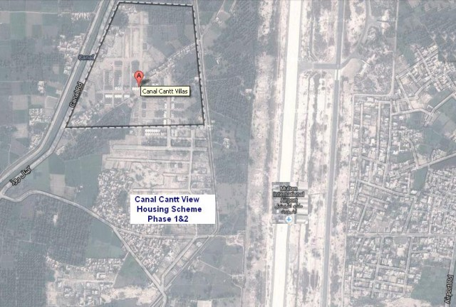 Multan Cantt Villas Satellite Map as on 19-1-2014