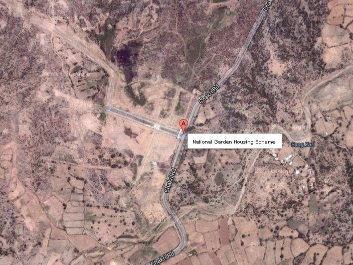 National Garden Housing Scheme Rawalpindi U2013 Satellite Image Map