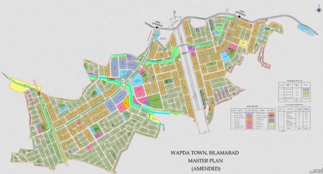 Wapda Town Islamabad - Master Plan (Small)