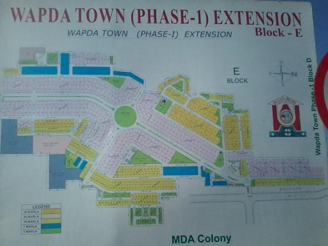 Wapda Town Multan (Phase-I Extension) Block-E, Master Plan
