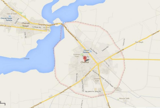 Chiniot City, Lahore Road, Location Map