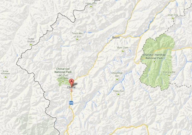 Chitral District Location Map - Kagh Last Mega City Plan?