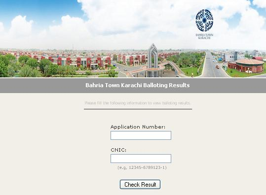 Bahria Town Karachi Balloting Website