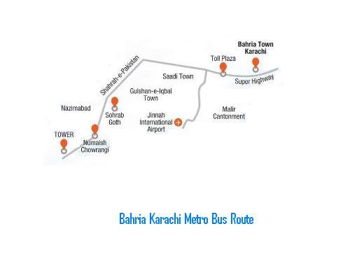 Bahria Town Metro Bus Karachi