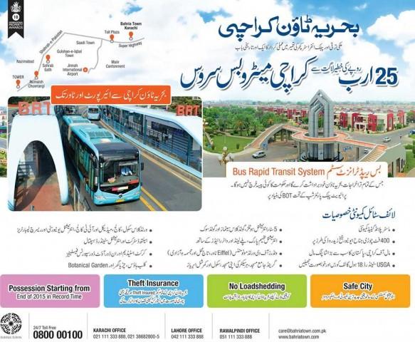 Bahria Town Metro Bus Karachi Route Map Fjtown