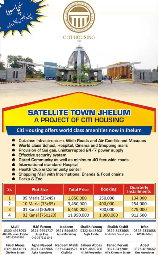 Satellite Town Jhelum Citi Housing Scheme