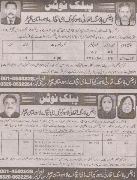 DHA Multan Land Purchase in Mauza Sangi and Garay Wahan