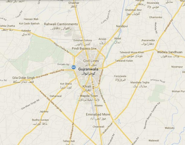 Fizaia Housing Scheme Gujranwala Location Map unknown