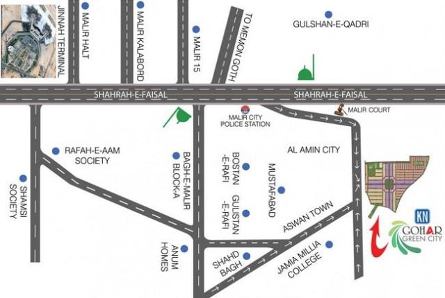 Location Map - Gohar Green City karachi