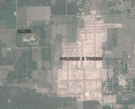 Satellite Map DHA Multan - Mauza Sangi near Gulshan-e-Tauheed