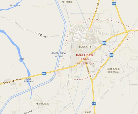 DG Khan City Map - Where is Location of PGSHF Housing Scheme?