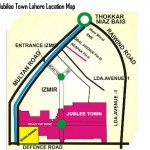 Jubilee Town Lahore Location Map