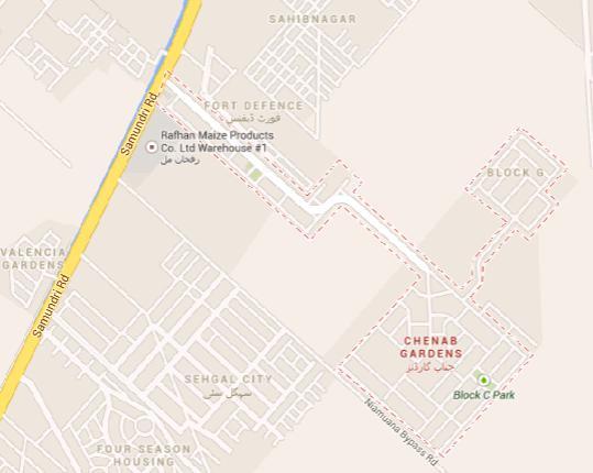 Chenab Gardens Faisalabad Master Plan