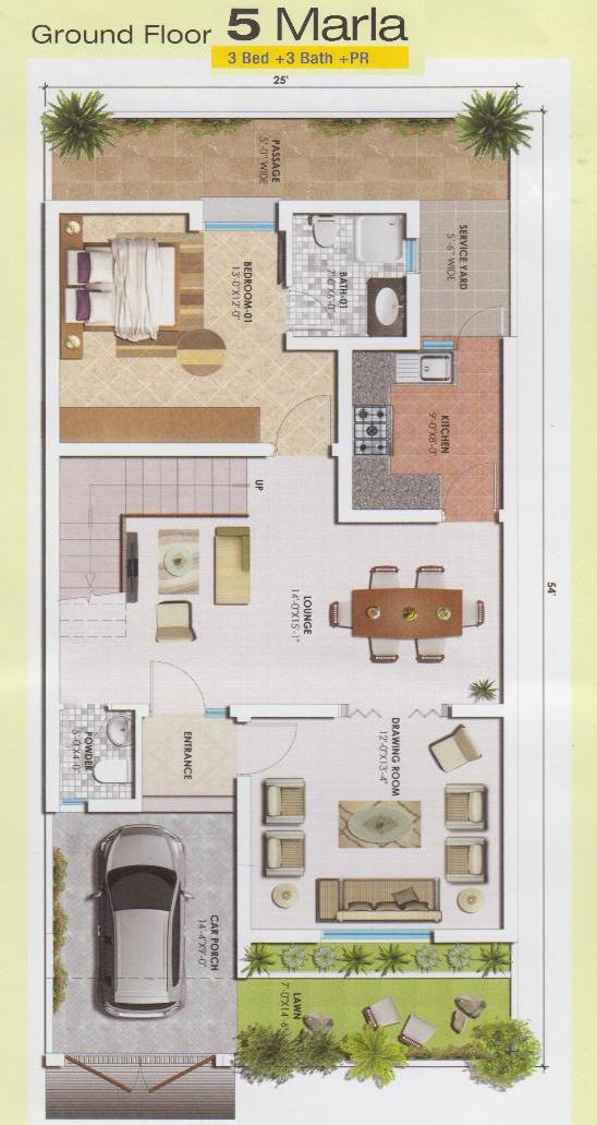 5 marla ground floor drawing real estate housing town planning news House map drawing