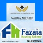 Fazaia Housing Scheme Gujranwala Residential Plots Booking