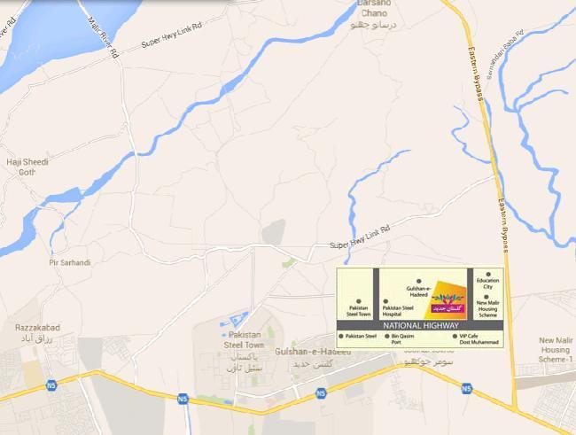 Gulistan e Haded Karachi - Location Map