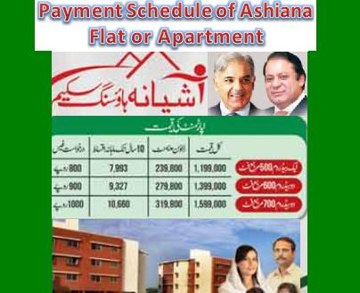 Payment Plan/Installment of Ashiana Iqbal Lahore Apartment/Flat