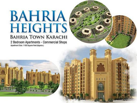 Bahria Heights Bahria Town Karachi - 2 Bedroom Apartments, Commercial Shops