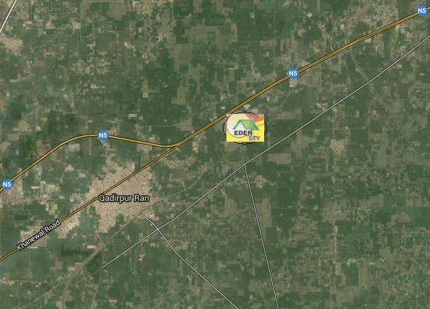 Eden City Multan Satellite Location Plan