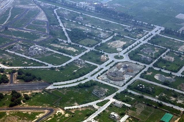 Bahria Town Lahore Bloack A Aerial View