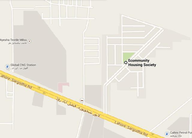 Ecommunity Housing Sheikhupura Master-Location Plan Map