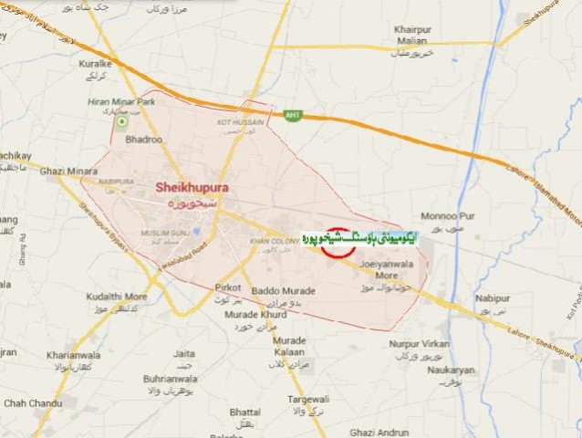 Location Map Ecommunity Housing Society Sheikhupura