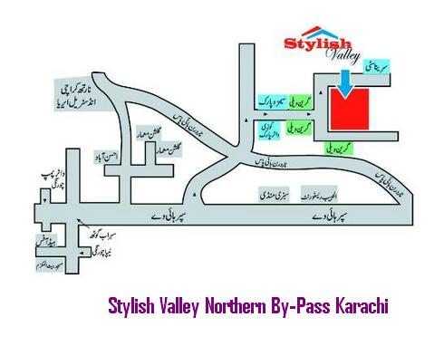 Stylish Valley Housing Scheme Karachi - Location Map
