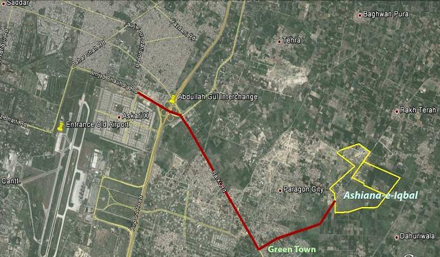 Location Map Ashiana Iqbal Barki Road Lahore