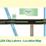 LDA City Lahore Location Map