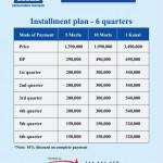 LDA City Lahore Payment Schedule 18 months Installment Plan