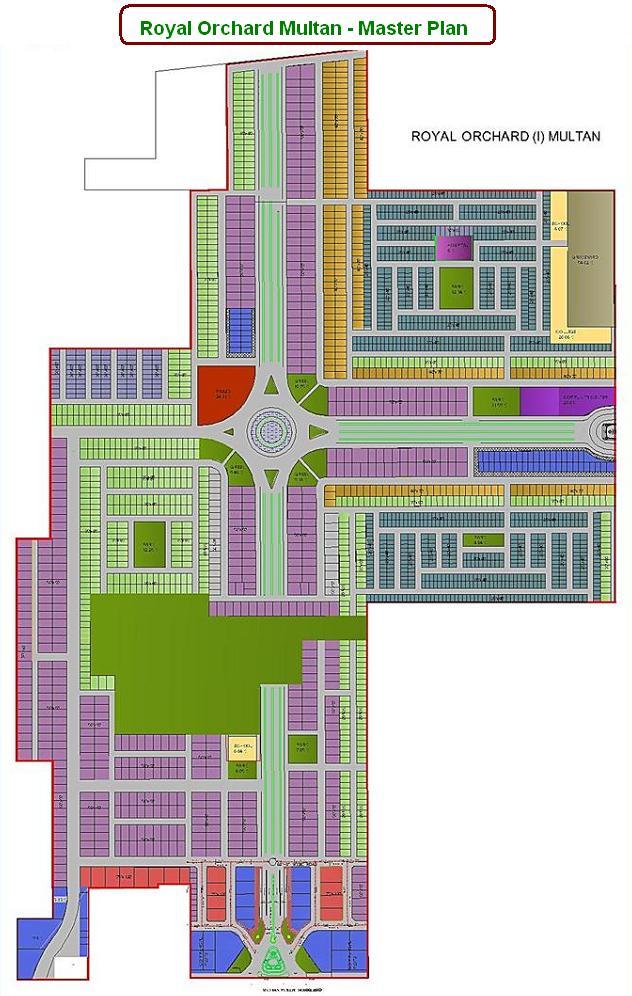 Royal Orchard Multan - Master Plan