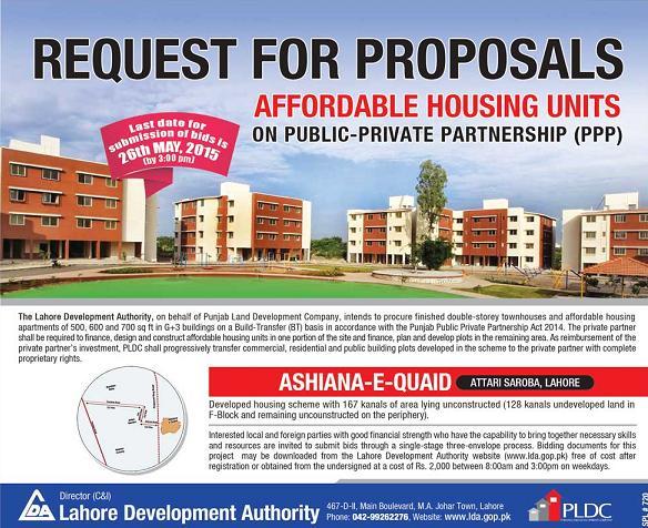 Ashiana e Quaid Attari Saroba Lahore Townhouses and Apartments affordable housing units