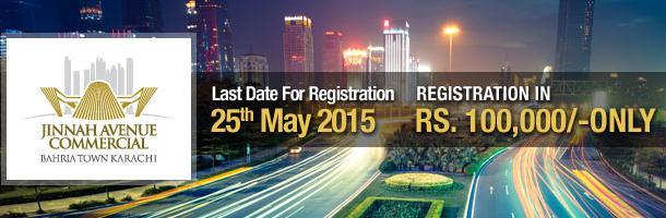 Jinnah Avenue Bahria Town Commercial Registration Open