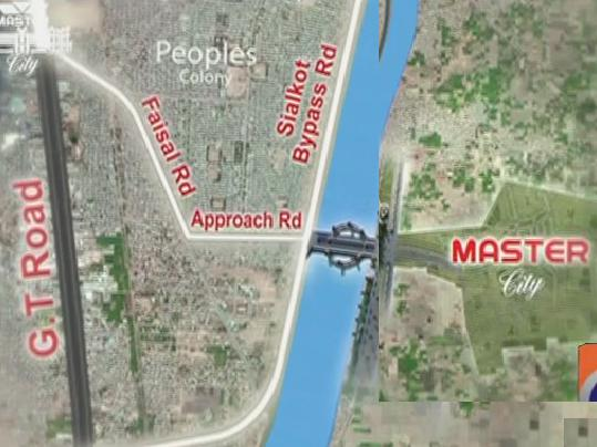 Location Map - Master City Gujranwala