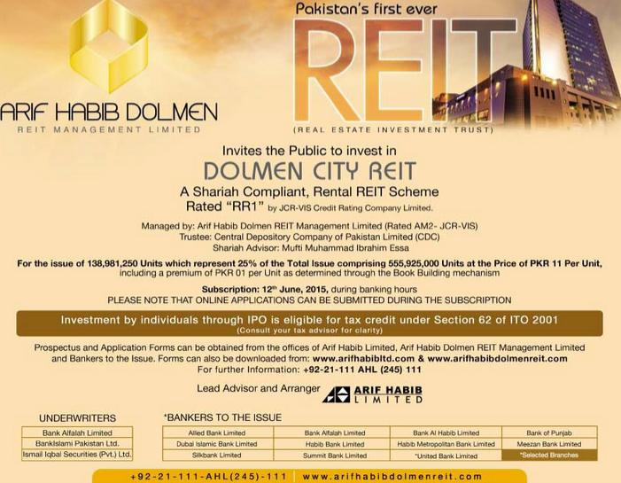 Arif Habib Dolmen City REIT - Investment in Real Estate Sector