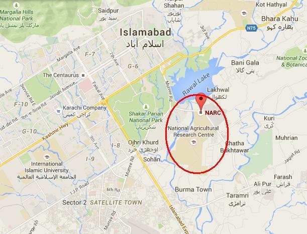 NARC Islamabad Location Map