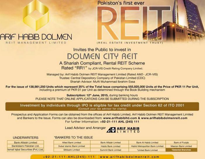 Arif Habib Dolmen City REIT - Investment in Real Estate Sector