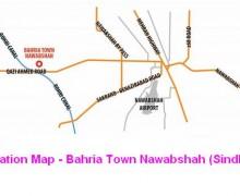 Location Map – Bahria Town Nawabshah Sindh
