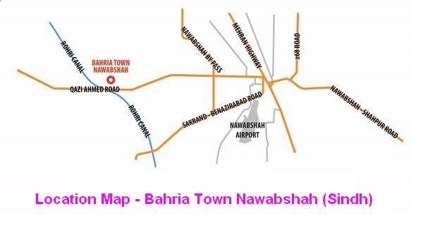 Bahria Town Nawabshah Sindh - Location Map