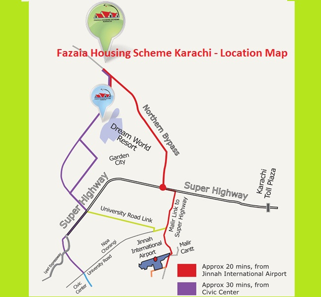 Fazaia Housing Scheme Apartments Karachi Location And
