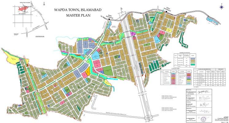 Wapda Town Society Islamabad - Master Plan
