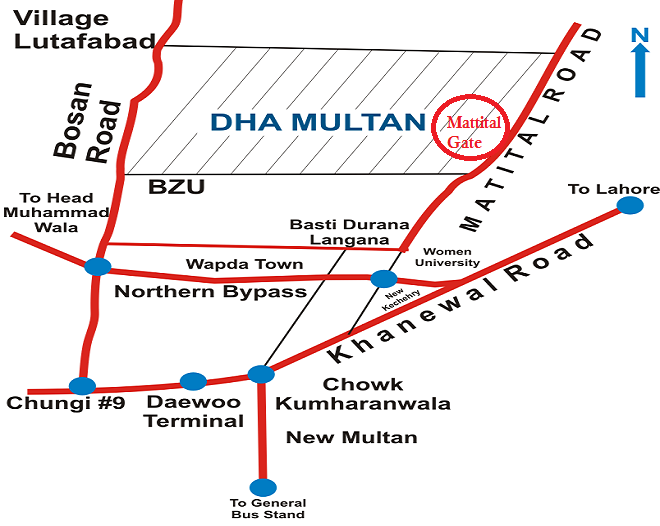 Location Map DHA Multan