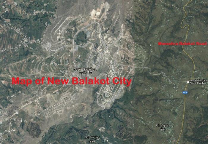 New Balakot District Mansehra Satellite Map and Master Plan