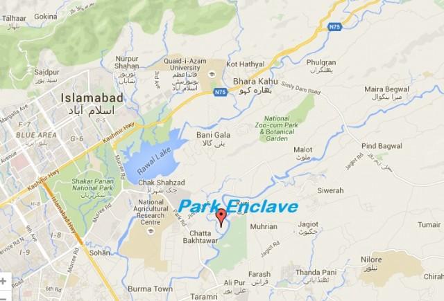 Park Enclave Location Map Islamaabd
